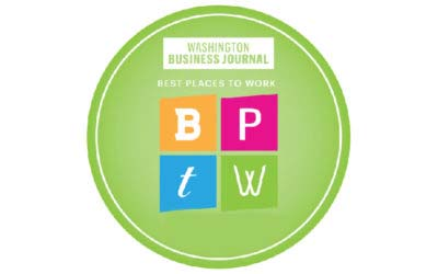 "Recognized by the Washington Business Journal as a ""Best Place to Work"""
